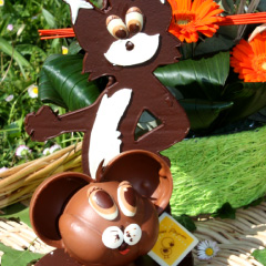Tom et Jerry - personnages en chocolat